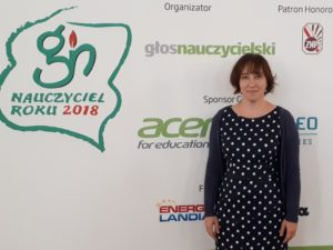 dr Barbara Ostrowska nauczyciel roku 2018