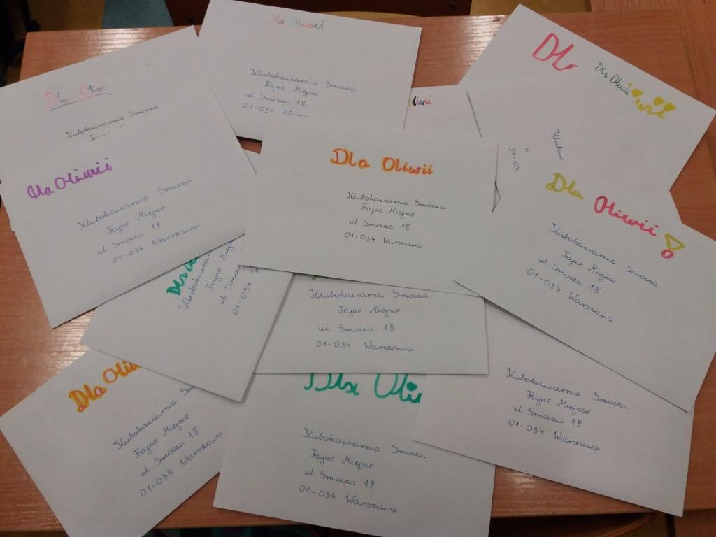 list dla Oliwii
