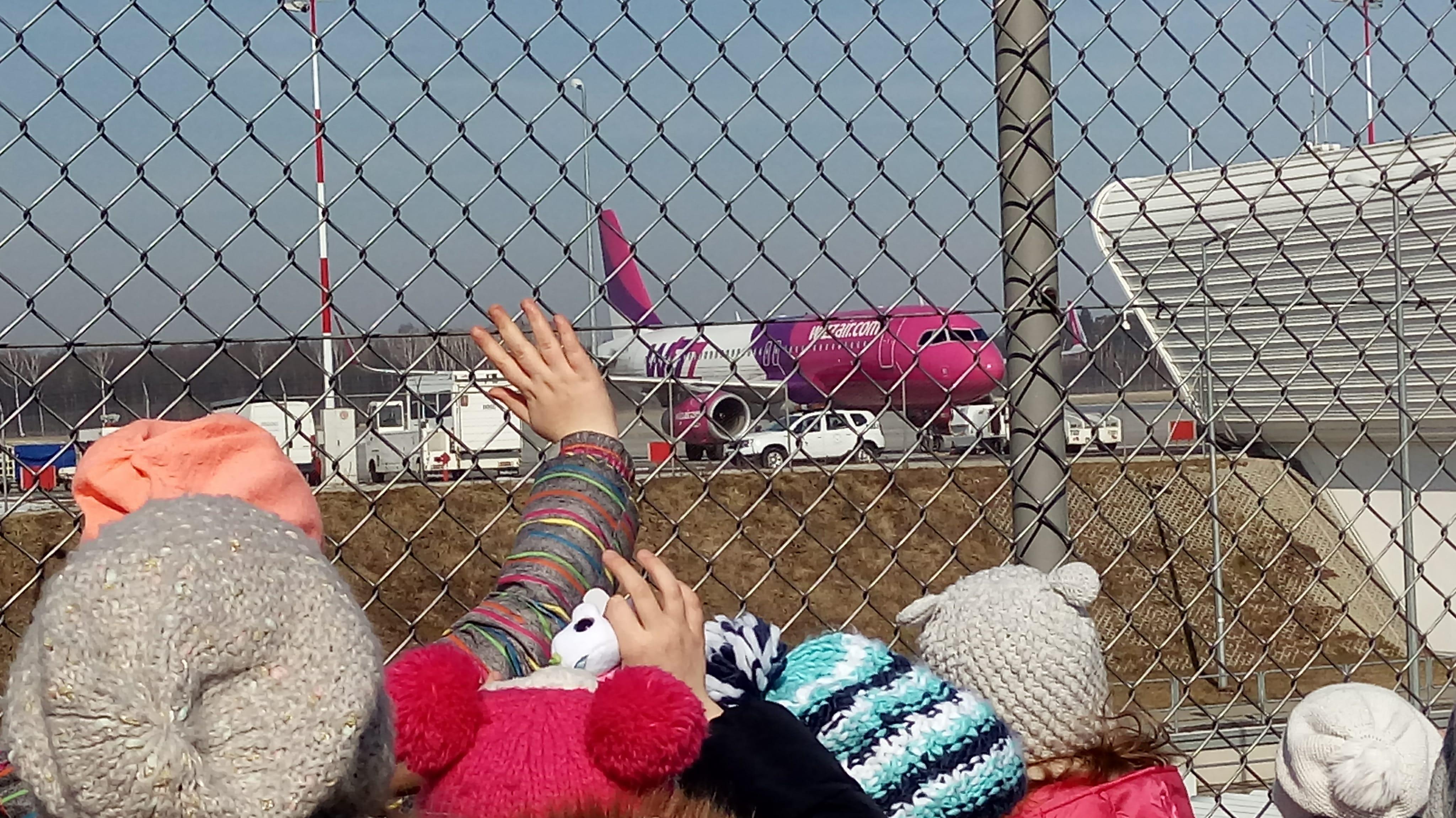 wizyta na lotnisku
