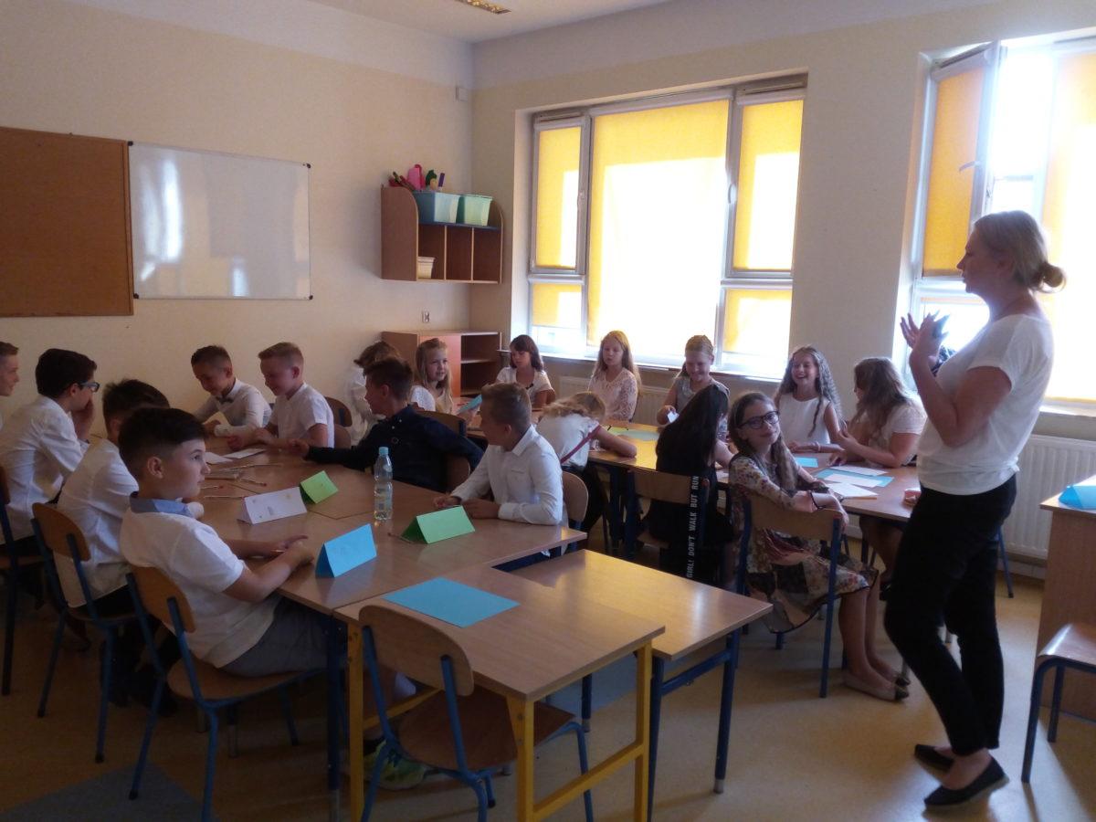 klasa 4a podczas zajęć integracyjnych