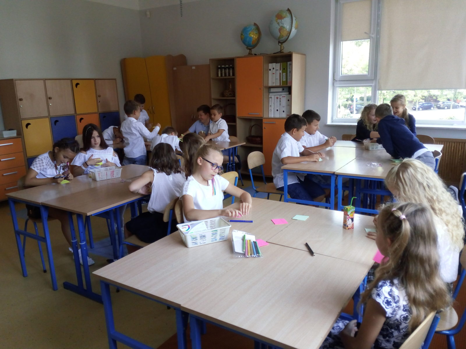 klasa 4c podczas zajęć integracyjnych