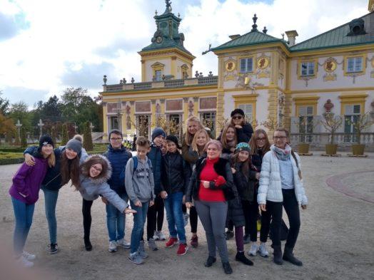 Wycieczka klas siódmych do Warszawy
