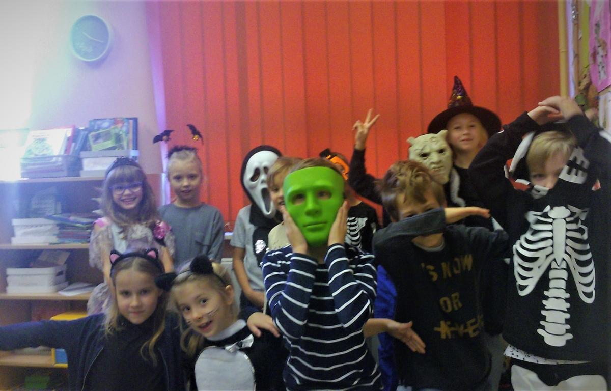 Halloweenowe przebrania naszych uczniów