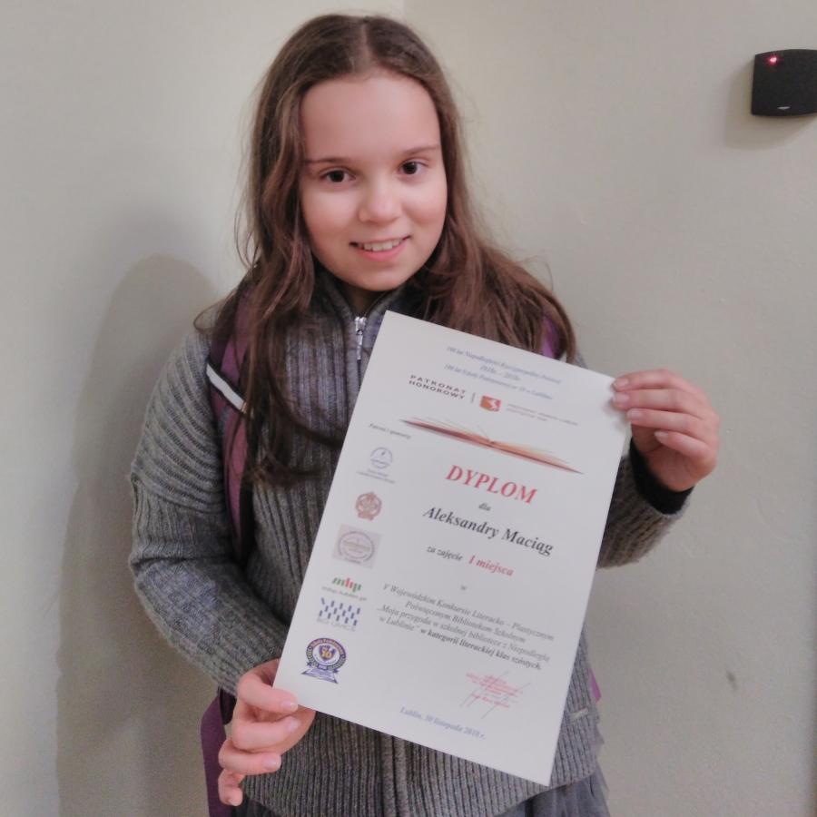Nasze uczennice laureatkami w V Wojewódzkim Konkursie Literacko-Plastycznym